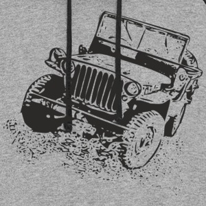 Gray jeep Women's T-Shirts - Colorblock Hoodie