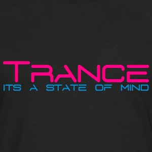 Black Trance State of Mind Sweatshirts - Men's Premium Long Sleeve T-Shirt