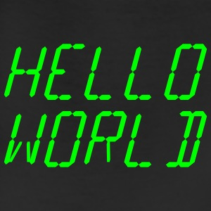Black Analog Hello World Women's T-Shirts - Leggings