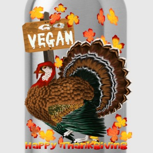 Go Vegan!! Thanksgiving - Water Bottle