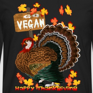 Go Vegan!! Thanksgiving - Men's Premium Long Sleeve T-Shirt