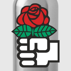 Socialist Red Rose - Water Bottle
