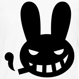 White halloween smoking rabbit T-Shirts - Men's Premium Long Sleeve T-Shirt