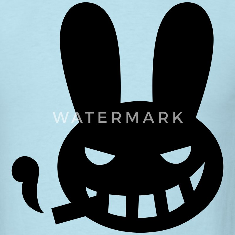 Sky blue halloween smoking rabbit T-Shirts - Men's T-Shirt