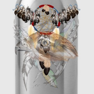 Dreamcatcher and Hawk Face - Water Bottle