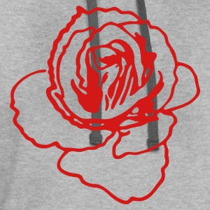 rose shape ROSES are my favourite! T-Shirts - Contrast Hoodie