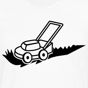 lawn mower mowing contractor cutting grass Hoodies - Men's Premium Long Sleeve T-Shirt