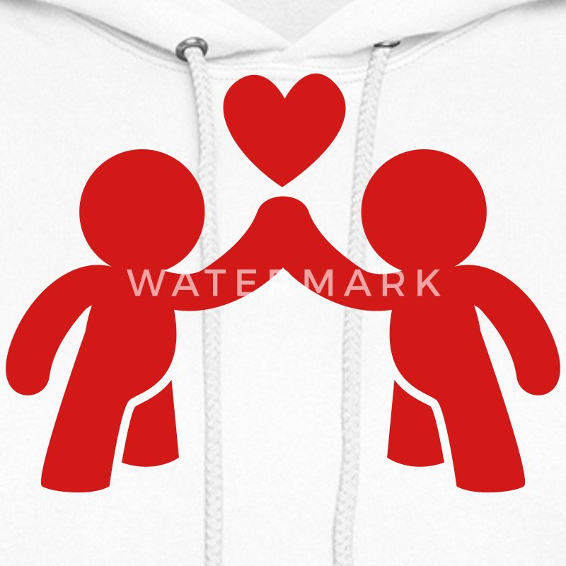 CUTE LOVE gay COUPLE Hoodies - Women's Hoodie
