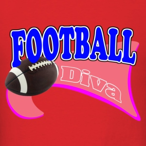 FootBall Diva Pink/Hot Pink Hoodies - Men's T-Shirt