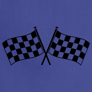 two checkered flags RACING MOTOR SPORTS T-Shirts - Adjustable Apron
