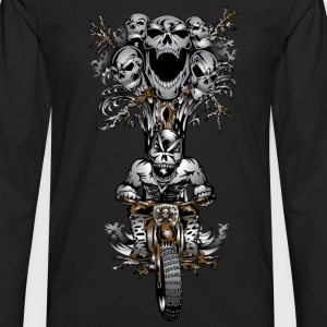 Skull Tree Dirt Biker - Men's Premium Long Sleeve T-Shirt