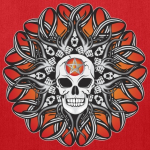 Goth Skulls - Orange Hoodies - Tote Bag