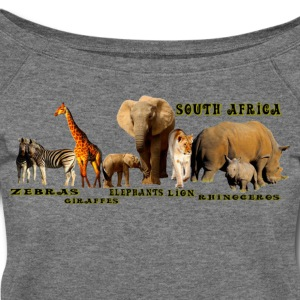 South African Wildlife Collage - Women's Wideneck Sweatshirt
