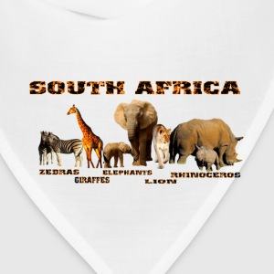 African Wildlife Collage - Bandana