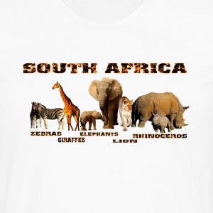 African Wildlife Collage - Men's Premium Long Sleeve T-Shirt