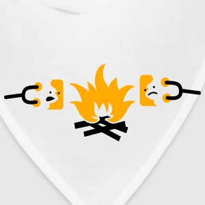 roasting sad marshmallows on a campfire T-Shirts - Bandana