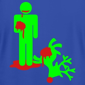 zombie man eating rudolph i hate christmas Tanks - Men's T-Shirt by American Apparel