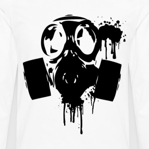 Gas Mask Grim 2(B) - Men's Premium Long Sleeve T-Shirt