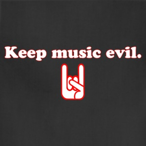 Keep Music Evil T Shirt - Adjustable Apron