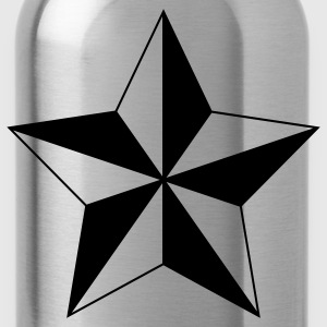 Nautical Star ( Vector Graphic ) - Water Bottle