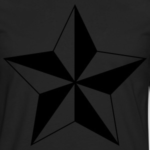 Nautical Star ( Vector Graphic ) - Men's Premium Long Sleeve T-Shirt