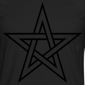 Pentagram ( Vector Graphic ) - Men's Premium Long Sleeve T-Shirt