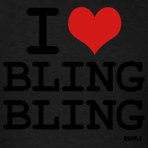 i love bling bling by wam Hoodies - Men's T-Shirt
