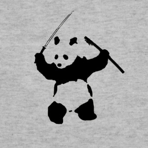 Katana Wielding Panda Shirt - Sweatshirt Cinch Bag