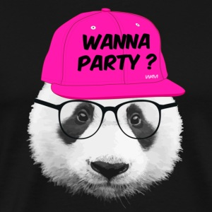 panda wanna party Hoodies - Men's Premium T-Shirt
