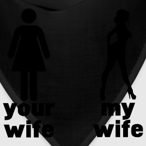 your wife vs my wife Hoodies - Bandana