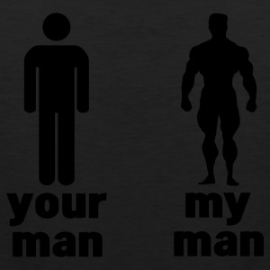 your man vs my man Women's T-Shirts - Men's Premium Tank