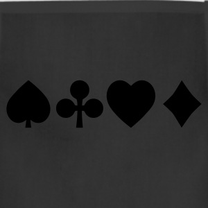 Spades diamond cross heart - card deck Women's T-Shirts - Adjustable Apron