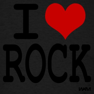 i love rock Hoodies - Men's T-Shirt
