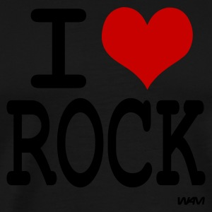i love rock Hoodies - Men's Premium T-Shirt