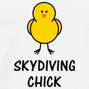 Skydiving Chick - Men's Premium T-Shirt