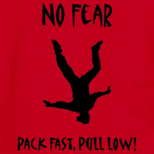 No Fear Pack Fast, Pull Low! - Unisex Fleece Zip Hoodie by American Apparel