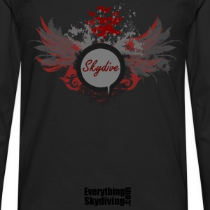 Skydive With Wings T-Shirts - Men's Premium Long Sleeve T-Shirt