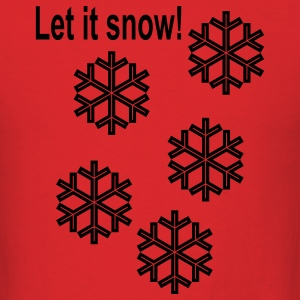let_it_snow Hoodies - Men's T-Shirt