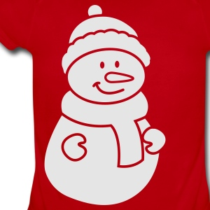 Snowman Kids' Shirts - Short Sleeve Baby Bodysuit