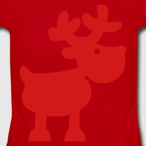 XMAS Reindeer Kids' Shirts - Short Sleeve Baby Bodysuit