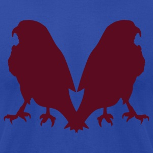 duo hawks hawk facing away from each other Tanks - Men's T-Shirt by American Apparel