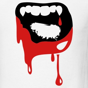 wide open vampire kiss TEETH! Tanks - Men's T-Shirt