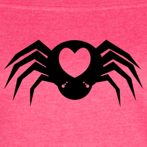 I heart Spiders with many eyes and love hearts Tanks - Women's Vintage Sport T-Shirt