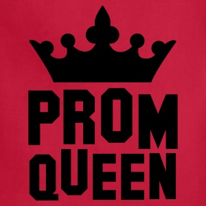 PROM QUEEN with princess queen crown Tanks - Adjustable Apron