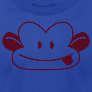 CUTE naughty monkey poking his tongue out  Tanks - Men's T-Shirt by American Apparel