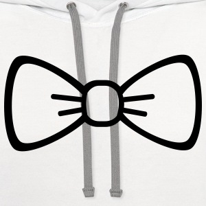 Bow tie Women's T-Shirts - Contrast Hoodie