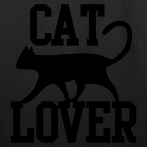 CAT LOVER with funky type and cute cat pussy T-Shirts - Eco-Friendly Cotton Tote