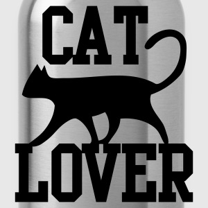 CAT LOVER with funky type and cute cat pussy T-Shirts - Water Bottle