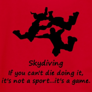 Skydiving If You Can't Die Doing It, It's Not A Sport...It's A Game. - Unisex Fleece Zip Hoodie by American Apparel