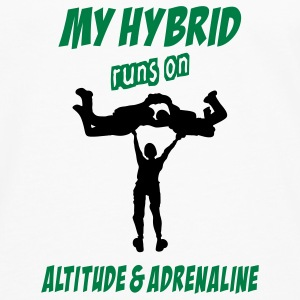 My Hybrid Runs On Altitude & Adrenaline - Men's Premium Long Sleeve T-Shirt